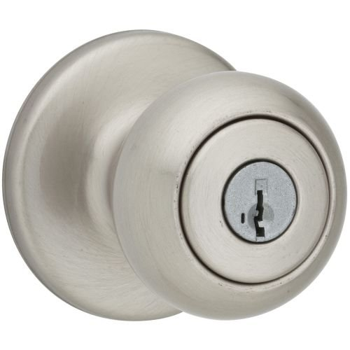 Kwikset Cove Entry Knob with SmartKey, Satin Nickel