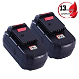 Replace Porter Cable 18V Battery for Porter Cable 18 Volt 3.0Ah PC18B PC18BL PCC489N PCMVC PCXMVC Cordless Tools (2Packs)
