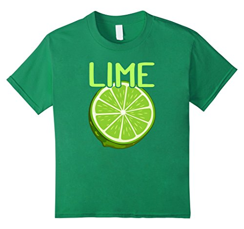 Kids Lime and Coconut Matching Costume - Halloween T-Shirt Store 12 Kelly Green