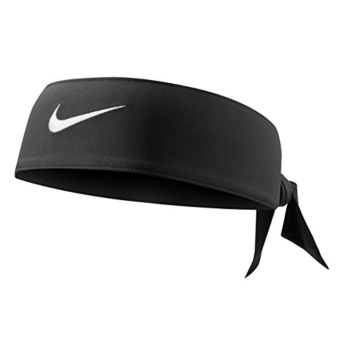 Dri Fit Head Tie - Nike Dri-Fit Head Tie 2.0 (One Size Fits Most, Black/White)