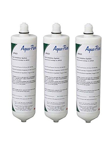 3-Pack 3M CUNO Aqua-Pure AP431 Hot Water Scale Inhibitor Replacement Filter by AquaPure