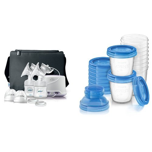 Philips AVENT Double Electric Comfort Breast Pump and Bre...