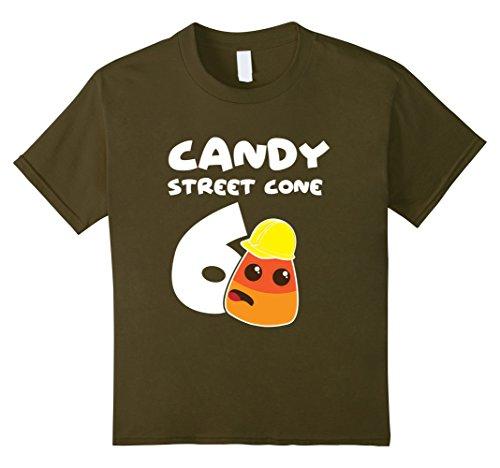 Kids Candy Street Cone Corn 6th Birthday Halloween T shirt 6 (Sixth Street Halloween)