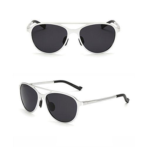 al polarizadas aire silver UV de conducción magnesio de de gafas fish 400 sol libre Gafas y Hombres UV de aluminio anti Lentes sol protección cWgwUTSp