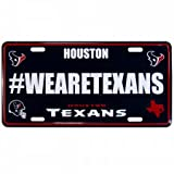 Siskiyou NFL Houston Texans Hashtag License Plate, 12″, Blue