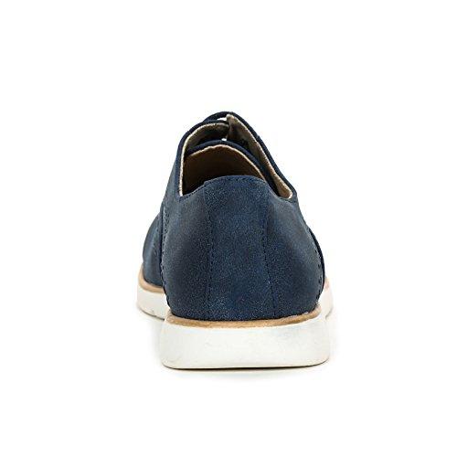 Traité Lacets à Bleu Scarpe avec Chaussures amp;Scarpe Obsel Plates by Chaussures Bout X8x76wUq