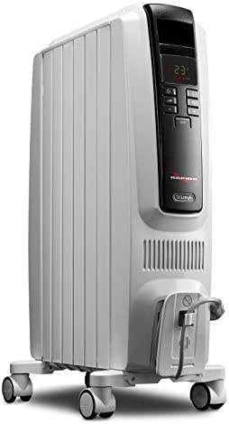 Oil-Filled Radiator Space Heater, Quiet 1500W, Adjustable Thermostat, 3 Heat Settings, Timer, Energy Saving,