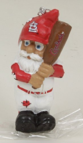 MLB St. Louis Cardinals Resin Action Gnome Batter Ornament, (Louis Cardinals Gnome)