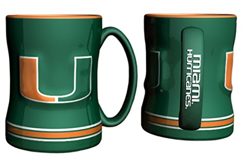 Hurricanes Coffee Mug (Miami Hurricanes Coffee Mug - 14oz Sculpted Relief)