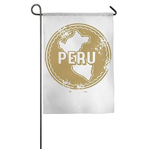 (Flyss Garden Flag - 12 X 18 Inch Decorative Cute Peru Stamp Clipart House Flag)