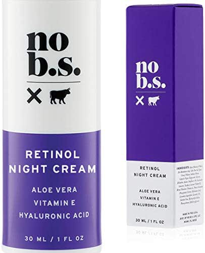 No B.S. Retinol Cream - Retinol Night Cream with Hyaluronic Acid. Potent Formulas. Clean Skincare.