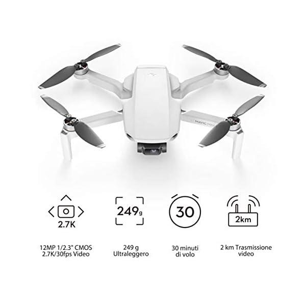DJI Mavic Mini Combo Drone Leggero e Portatile, Batteria 30 Minuti, Distanza 2 Km, Gimbal 3 Assi, 12 MP, Video HD 2.7K, EU Plug 2 spesavip