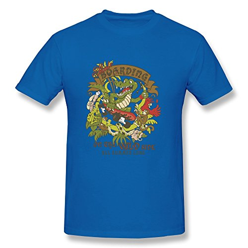 Particular Summer Boarding T Shirt Customized For Adult RoyalBlue