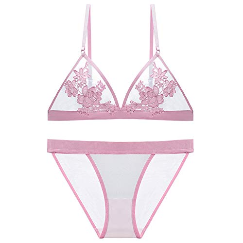 SEGE Women Bra and Panty Lingerie Set Underwear Bralette Everyday Bras Panty Matching