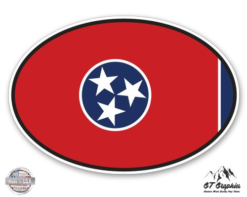Tennessee State Flag Oval - 5