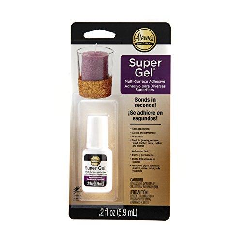 - Aleene's 29128 Maximum-Strength Super Gel Brush-On Adhesive