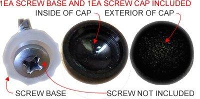 Dome Shape Decorative Pop On Screw Caps / Covers for # 8 Phillip Pan Head Tek Screws for Cable Deck Railing (50 Pieces) (Bronze)