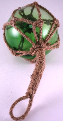 Green Japanese Glass Fishing Float Fish Net Buoy