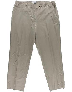 Calvin Klein Womens Plus Modern Fit Khaki Dress Pants