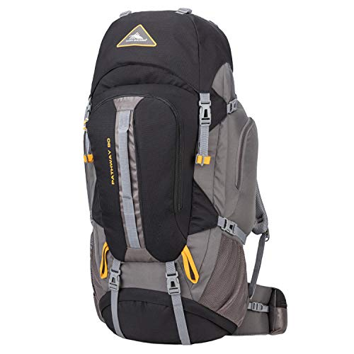 High Sierra Pathway 90-Liter Internal Frame Hiking Backpack - Internal Frame Backpack with Hydration Port - Compatible with 3-Liter Hydration Reservoir - for Hiking, Camping, or Trekking Adventure