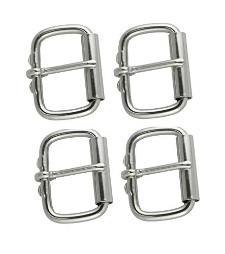 Steel Roller Buckle - Multi-Pack of 999 Roller Buckles, Ideal for Equine Tack, Saddles, Harness (Stainless Steel 1 1/2
