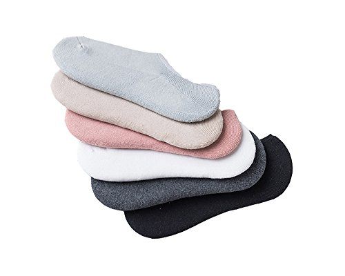 Women and Men's Ankle Low Cut No Show Socks Casual Cotton Sneaker Socks (6 Pack) (Women's 6 pack, 6 different (6 Different Colours)