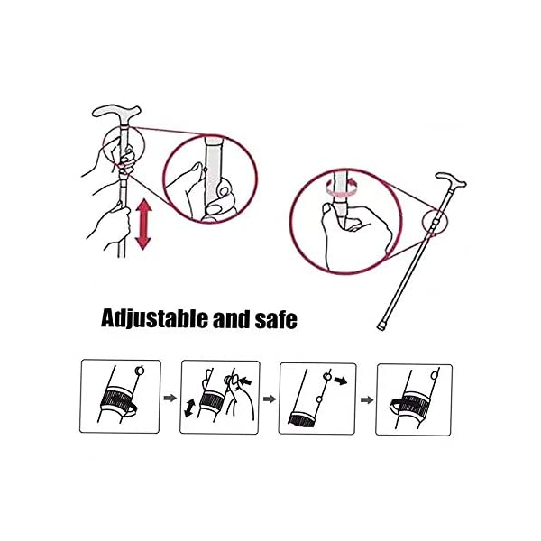 Evealyn-WalkingHikingTrekkingCamping-StickPoleCanes-Foldable-Collapsible-Portable-Lightweight-Adjustable-Hand-Walking-Cane-Mountaineering-Crutches-Outdoor-for-Men-Women-7