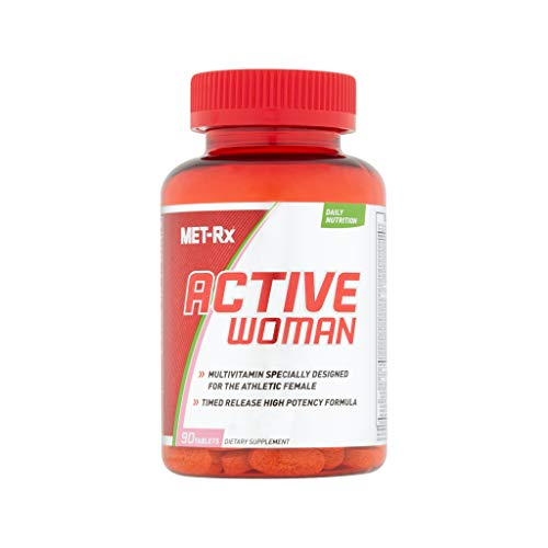 MET-Rx Active Woman Multivitamin for Women, with Vitamins D, C, E, and B12, 90 Tablets