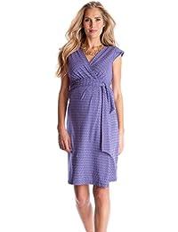 Tanya Blue Purple Printed Maternity Wrap Dress - US 10