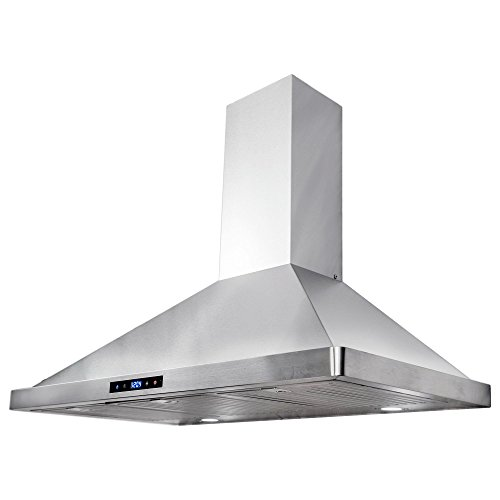 Cosmo 63190S 36 in. Wall Mount Range Hood with Soft Touch Controls, LED Lighting and Permanent Filters (36 Inch Range Hood Wall Mount)