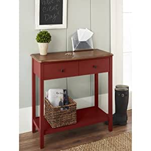 Console table red kitchen dining for 10 spring street console table