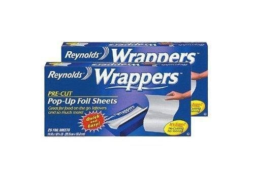 Reynolds Wrappers Pop Up / Foil Sheets (2 Pack) No cutting or -