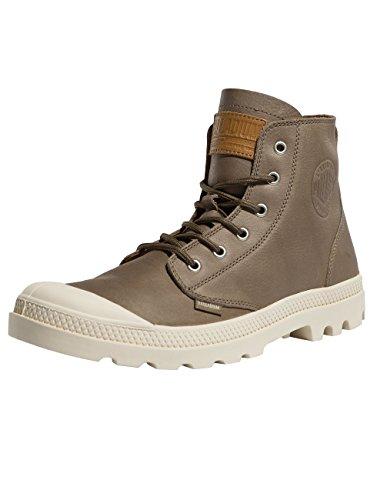 Palladium Mixte-erwachsene Pampa Chaussure Salut Cuir Sans Doublure Hohe Argile Bouleau (75750-206)