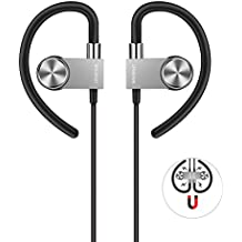 Bluetooth Headphones,Wavefun Best Wireless Sport Earphones with Microphone,IPX7 Waterproof HD Stereo Sound with Bass Sweatproof In Ear Earbuds for Gym Running Workout Headset