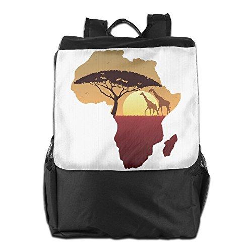 Outdoor Men And Women Travel Backpack Shoulder Bag African Safari Giraffe\r\n Convenient - Hot African Ladies South