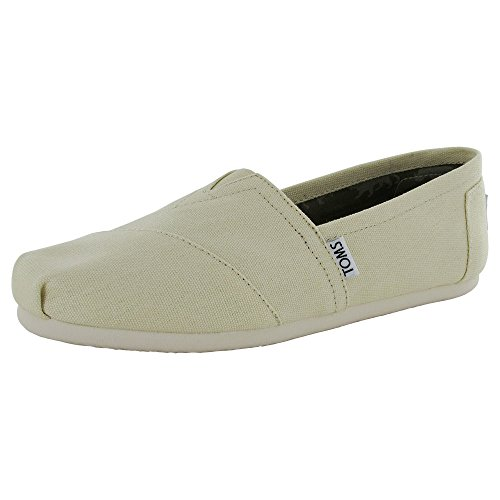 Toms Women's 001001b07-ltbge Natural Canvas Alpargata Flat, Beige, 7.5 M US Canvas
