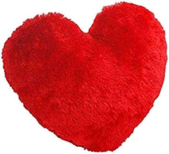 ReneReit Heart Shaped Super Soft Toy Decor Cushion Pillow for Love Girl Gift 25 cm Red Set of 1
