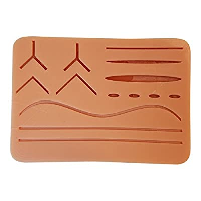 """Large Suture Pad w/ Wounds (7"""" x 5"""") (Light Skin)"""