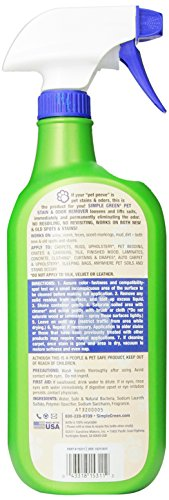 Image of SIMPLE GREEN 432101 Cat Stain and Odor Remover Trigger for Pets, 32-Ounce