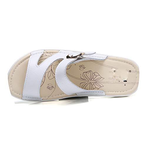 859 Female flat Black women Sandals Flops shoes 859 Comfortable Beach New platform flip Shoes White Shoes Blue Loft sandals Slippers xfEZT