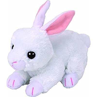 Ty 42267Cotton White, Beanie Babies Limited Easter Rabbit 15cm: Toys & Games