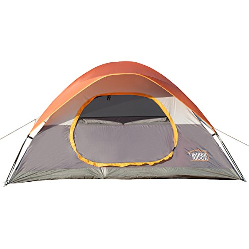 Timber Ridge Lightweight Family Camping Tent with Compression Bag, O-Shape Door, 3 Seasons (Quick Halloween Decorations To Make)