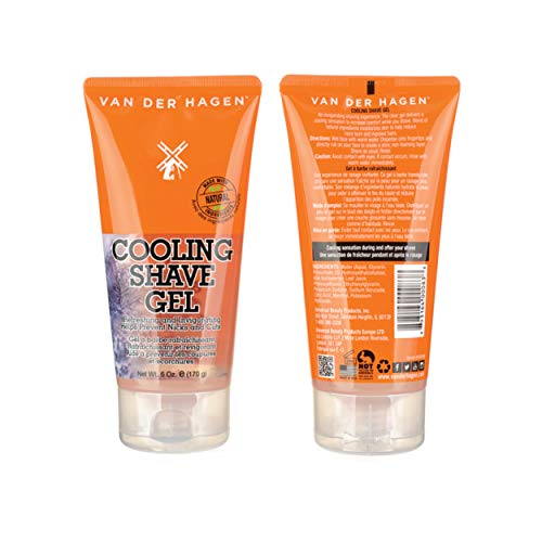 Van Der Hagen Cooling Shave Gel for Men - Non-Foaming Aloe Vera For A Slick, Smooth Shave Surface And A Close Finish