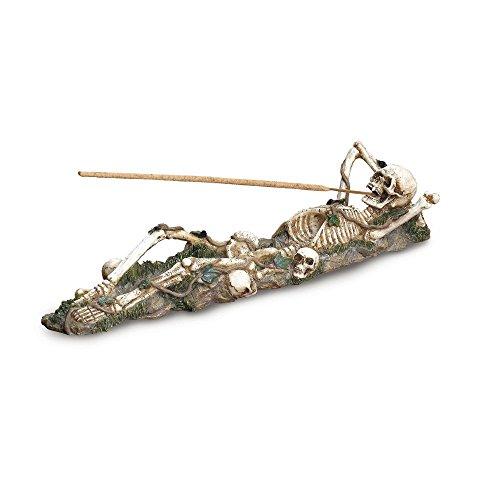 のぞき見義務づけるただGifts & Decor Skeleton Incense Burner Holder Collector Halloween Gift by Gifts & Decor