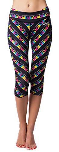 "Guely Ray Performance Compression Colorblock Capri Leggings Yoga Pants 19"" 20"
