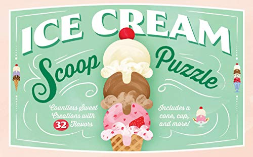 Chronicle Books Ice Cream Scoop Puzzle: Countless Sweet Creations with 32 Flavors