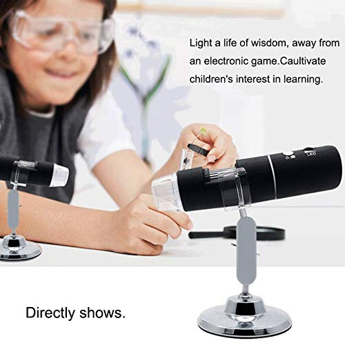 WG 1080P Digital 1000x Microscope 30MP//200MP Magnifier Camera 8 Led 3 in 1 USB for Android iOS iPhones iPads,Black