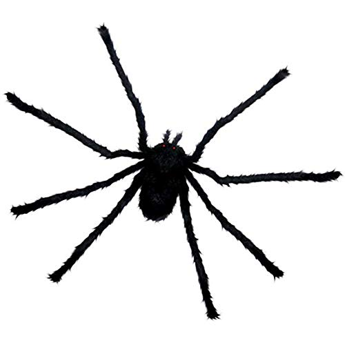 20in Furry and Hairy Black Spider Poseable Bendable Legs Halloween Party Decor (Set of 3) (Tarantula Desk Decoration)