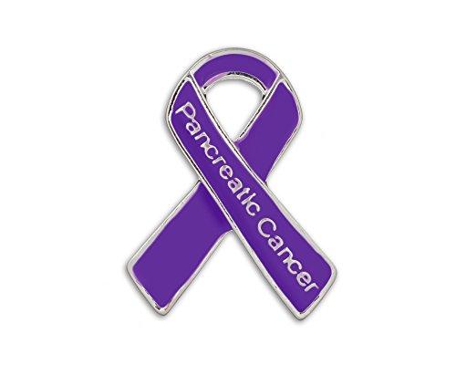 Pancreatic Cancer Ribbon Awareness Pin (1 Pin - Retail)