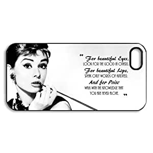 Pink Ladoo? iPhone 4 4s Case Phone Cover Beautiful Eyes Quote By Audrey Hepburn